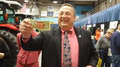 Maine's Governor LePage was recently flagged down by a Mainer & handed a stamped dollar bill