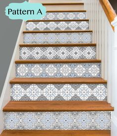 Stair Riser Vinyl Strips Removable Sticker Peel & Stick for 15 Linoleum Flooring, Kitchen Flooring, Kitchen Backsplash, Stair Stickers, Wall Stickers, Vinyl Decals, Tile Stairs, Table Cafe, Stair Risers