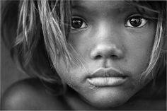 Fotografía, blanco y negro, niños, miradas
