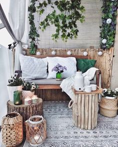 Target Home Decor, Fall Home Decor, Cheap Home Decor, Small Balcony Decor, Balcony Design, Balcony Decoration, Balcony Ideas, Apartment Balcony Decorating, Decorating Small Spaces