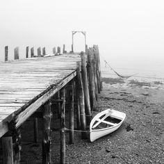 Low tide & foggy morning on the Bay of Fundy.