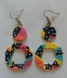 Beaded Earrings Native, Seed Bead Earrings, Earrings Handmade, Handmade Jewelry, Bead Embroidery Jewelry, Beaded Jewelry Patterns, Beaded Embroidery, Bead Jewellery, Diy Jewelry