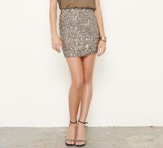 Vince Taupe Skirt