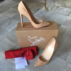 Christian Louboutin Pigalle 120mm in Naturale Cork ️️ or ♏️ercari price listed! Size 37, runs TRUE to size, not 1/2 size small. Suited for a US Size 7. Purchased from the Christian Louboutin boutique in Miami in 2011 and worn less than 10 times. For 5 year old shoes, these things haven't even been broken in!! I love the cork because it's a natural, skin toned shade intended for all. These are perfect in every way. No scuffs, tears, stains- just minor wear to the sole. Comes with everything…