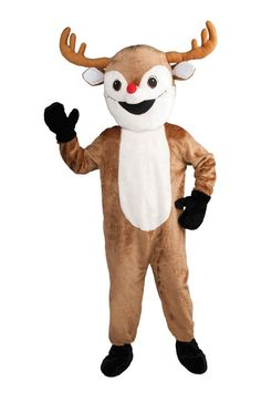Creepy Scary Costume Reindeer Mascot