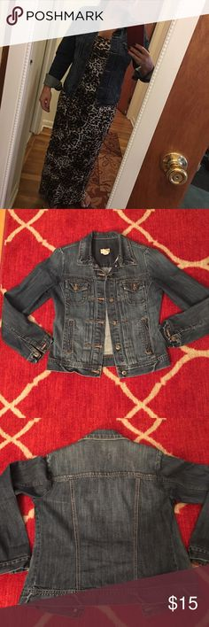 Jean jacket Gap Blue jean jacket from Gap, size S, barely worn. Comes from smoke free home;) GAP Jackets & Coats Jean Jackets