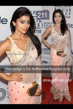 Shriya Saran Off White Net Latest Bollywood Saree