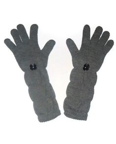 Long Gray Chic Winter Gloves Womens Winter by AccursedDelights, $15.00