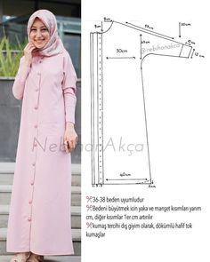Fashion Sewing Clothing Accessory Design Hijab DIY Kombin Hijab Fashion … - Do it Yourself Clothes Fashion Sewing, Diy Fashion, Ideias Fashion, Abaya Fashion, Modest Fashion, Motif Abaya, Dress Sewing Patterns, Clothing Patterns, Sewing Clothes