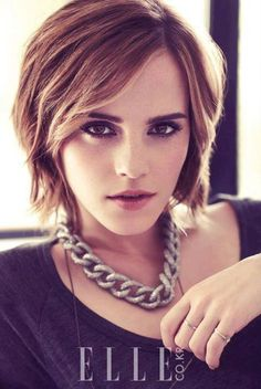 I really like her short hair...... if only my hair wasn't so curly.....
