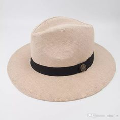 ede90603ea8 Unisex Paper Straw Panama Hat Cool Breathing Fashion Fedora Hats For Summer  Beach Holiday Classic And