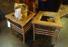 Beistelltische aus alten Stühlen