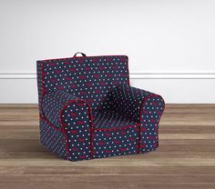 Red and Navy Ditzy Dog Anywhere Chair @ PBK