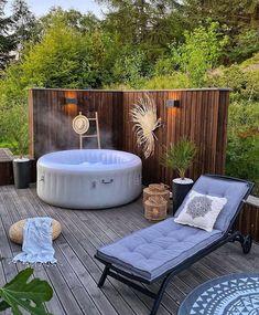 Hot Tub Gazebo, Hot Tub Garden, Hot Tub Backyard, Backyard Retreat, Backyard Patio, Modern Backyard, Garden Jacuzzi Ideas, Deco Spa, Whirlpool Deck