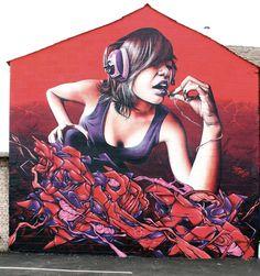Smugone #graffiti #urban #art #GraffitiArt #StreetArt #music #headphones