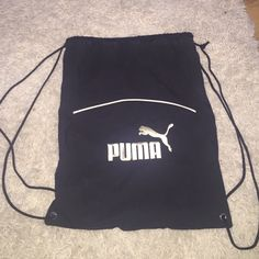 Puma Drawstring Backpack Bag Super cute black Puma bag / backpack that is in…