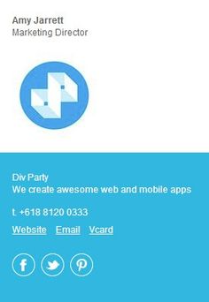 Email Signature Design | Mailings | Pinterest | More Email ...