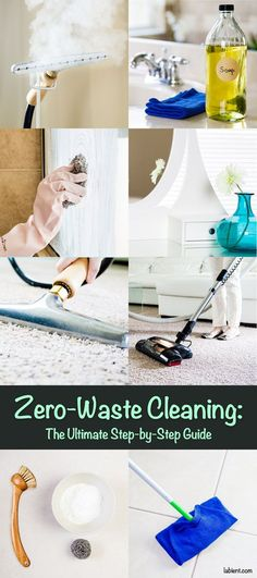 The Ultimate Step-by-Step Zero-Waste Cleaning Guide Are you fed up with your traditional cleaning that creates lots of waste and makes your home toxic? A zero-waste cleaning routine will remove toxins from your home, reduce allergies, and save money. Reduce Reuse Recycle, Ways To Recycle, Reduce Waste, Zero Waste, Recycling Information, Waste Removal, Eco Friendly House, Natural Cleaning Products, Natural Products