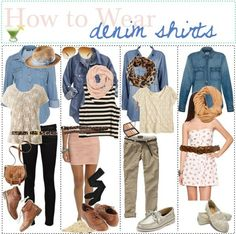 how to wear denim shirts