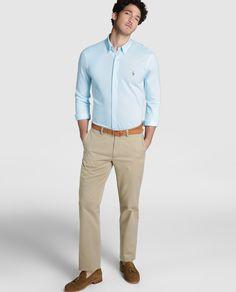 Camisa de hombre Polo Ralph Lauren regular lisa azul · Polo Ralph Lauren ·  Moda · fa45a2552b