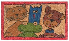 "Animal Friends 17""x29"" Coir with Vinyl Backing by Momentum Mats. $19.99. In Stock - Ships in 1-2 days. Makes a Great Gift - Free Gift Enclosure. Traps Dirt and Moisture. Fade Resistant, Color Fast and Weather Tolerant. 100% Natural Coir with Vinyl Backing for Long-Lasting Wear and Durability. Momentum Mats has been a trusted manufacturer for 28 years and we take great pride in the fact that we use only 100% natural coir and vinyl in our doormats.  Our manufacturing facilities hav..."