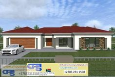 ZZZZ FREE VIEW IMPRESSIONS Four Bedroom Single Storey Free House Plans, House Layout Plans, Family House Plans, Bedroom House Plans, Flat Roof House Designs, Best Exterior House Paint, Single Storey House Plans, Tuscan House Plans, House Plans South Africa