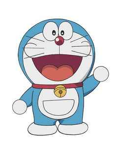 """Doraemon is a beloved cat in Japan! He starred in a comic that ran from 1969 - 1996, as well as TV shows and movies. """"Doraemon"""" roughly translates to """"stray."""" http://www.goodmews.org"""