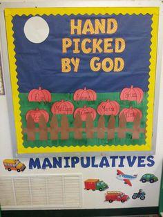 sunday school bulletin boards | Fall bulletin board