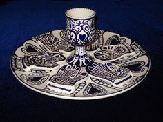 Hamsa Passover Seder Set by RinaKadima on Etsy, $300.00