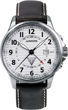 Junkers Watch Tante JU #2015-2016-sale #bezel-fixed #black-friday-special #bracelet-strap-leather #brand-junkers #case-material-steel #case-width-40mm #classic #date-yes #delivery-timescale-1-2-weeks #dial-colour-silver #gender-mens #gmt-yes #movement-quartz-battery #official-stockist-for-junkers-watches #packaging-junkers-watch-packaging #sale-item-yes #style-dress #subcat-tante-ju #supplier-model-no-6848-1 #vip-exclusive #warranty-junkers-official-2-year-guarantee #water-resistant-100m