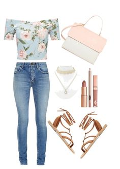 """Untitled #3"" by shooolie on Polyvore featuring Miss Selfridge, Yves Saint Laurent, Valia Gabriel, Lipsy, Dolce Vita and Eddie"