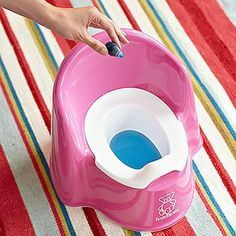 Potty Training Tips: Dye the toilet water with red or blue food coloring, when he/she goes potty it will change color to orange or green, turning potty training into a game.