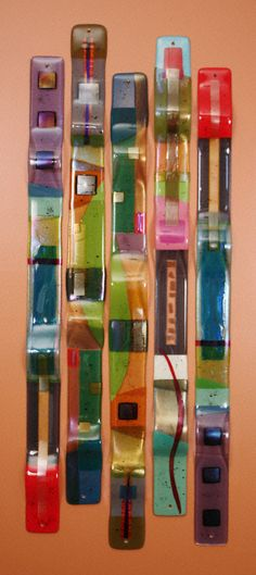 Fused Glass Sculpture & Wall Art - Color Totems - Nina Cambron Studio