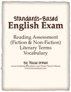 Standards-Based English Exam Reading and Vocabulary Assessment
