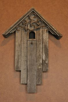 Hey, I found this really awesome Etsy listing at https://www.etsy.com/listing/279904840/rustic-iron-scroll-birdhouse