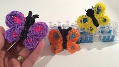 Eveline Maureen - YouTube Loom Band Patterns, Rainbow Loom Patterns, Rainbow Loom Creations, Rainbow Loom Bands, Rainbow Loom Charms, Rainbow Loom Bracelets, Knifty Knitter, Loom Knitting, Loom Band Charms