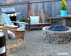 Weathered bricks easily transform a store-bought fire pit into rustic, backyard decor. Get the tutorial at The Inspired Room »  - GoodHousekeeping.com