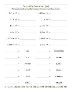 Scientific Notation (A)
