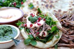 Pulled Lamb Flatbreads with Gran Luchito