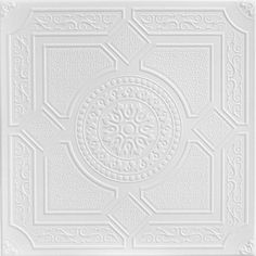 "Decorative Ceiling Tiles, #R30- Kensington Gardens - Styrofoam Ceiling Tile - 20""x20"" (option for panel A)"