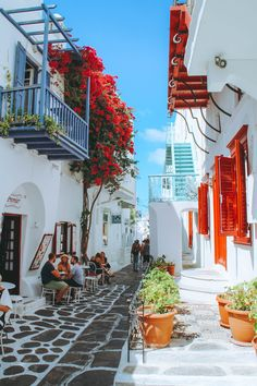 greece travel Streets in Mykonos Town Mykonos Grecia, Mykonos Town, Mykonos Island, Beautiful Places To Travel, Romantic Travel, Photos Voyages, Travel Aesthetic, Greece Travel, Greek Islands