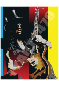 Slash Pop Art Print by tyart2479 on Etsy, $20.00