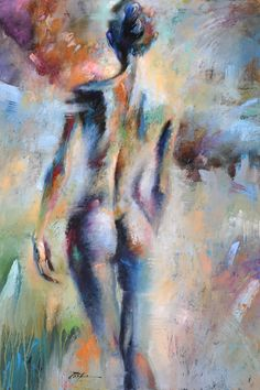 Abstract Figurative Artwork - Artist Tim ParkerInto the Mist