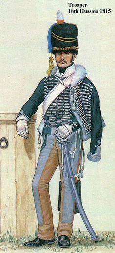 Trooper 18th Hussars 1815: