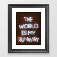 The World is my Runway (color) Framed Art Print by Danielle Minero. Worldwide shipping available at Society6.com. Just one of millions of high quality products available.