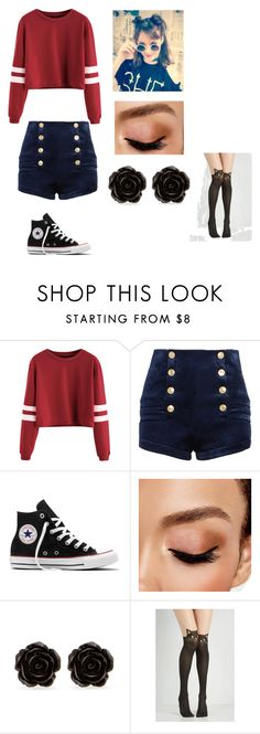 """""""Untitled #101"""" by skylar123-479 on Polyvore featuring Pierre Balmain, Converse, Avon and Erica Lyons"""