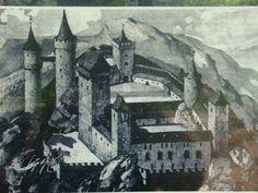 Zamek Bolczów za czasów swojej świetności