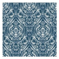 Wallpops Bohemian Damask Peel & Stick Vinyl Wallpaper ($50) ❤ liked on Polyvore featuring home, home decor, wallpaper, blue, motivational wallpapers, damask home decor, boho style home decor, damask wallpaper and vinyl home decor