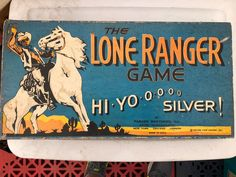 1938 Parker Brothers, The Lone Ranger board game. The red horse game piece is broken.