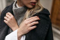 Skandinavian Streetstyle with SKAGEN watch, SKAGEN clutch, Zara Slingpack pumps, H&M Trend pullover & Thomas Sabo silver rings